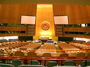 United Nations General Assembly in New York City.
