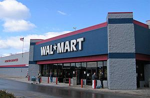 A typical Wal-Mart discount department store i...