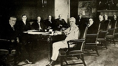 Woodrow Wilson And His Cabinet In The Room