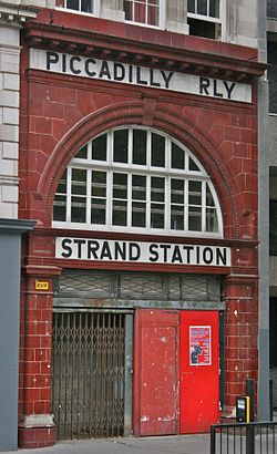 Main entrance on the Strand, London