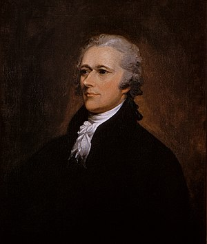 Oil on canvas portrait of Alexander Hamilton b...