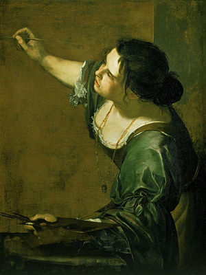 Artemisia Gentileschi, Self-Portrait as the Al...