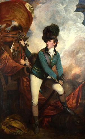 The British Lt. Col. Banastre Tarleton. Painti...