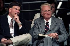 English: Franklin and Billy Graham, in Clevela...