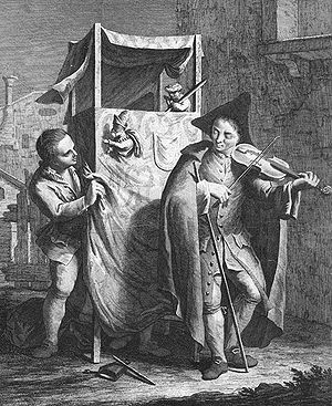 Puppet theatre (~ Punch and Judy), c. 1770