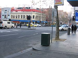 Corner of Russell Street and Lonsdale Street i...