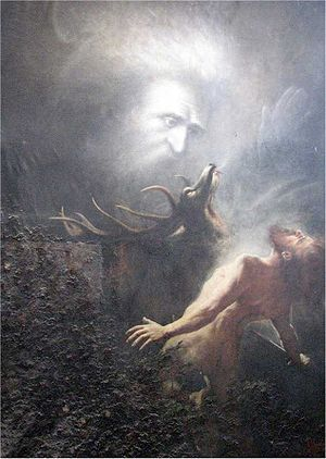 English: Painting Du sollst nicht töten (Thou ...