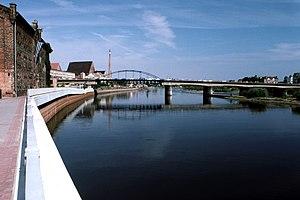 English: Frankfurt (Oder) - Słubice, city brid...