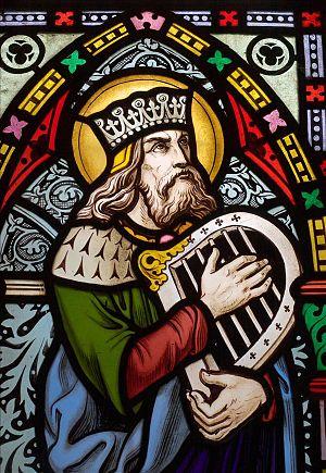 English: King David, second king of Israel