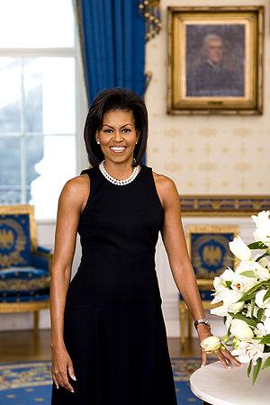Michelle Obama, official White House portrait.