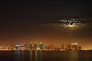 Moon over San Diego.