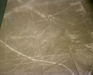 The Nazca lines (200 BCE - 700 CE) in Peru, in...