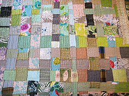 Quilt weaving close up
