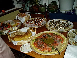 Smörgåsbord, Swedish buffet-style food