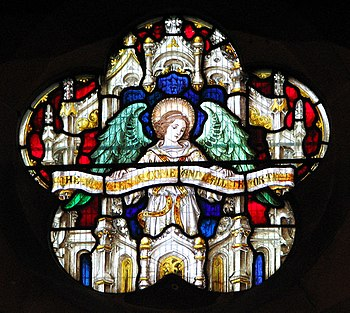 St Margaret's church - stained glass - geograp...