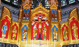 The reredos in St Stephen's Church, Bournemouth.