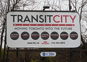 "English: ""Transit City"" billboard pr..."