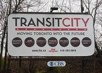"""Transit City"" billboard promoting p..."