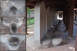 Collage of turtle steles at Văn Miếu (文廟), Han...