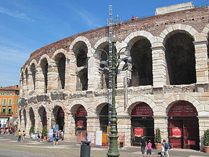 English: Verona roman arena - exterior