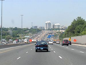 Highway 401 west of the Don Valley Parkway/Hig...