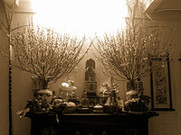 Bàn thờ tổ tiên(?) trong ngày tết