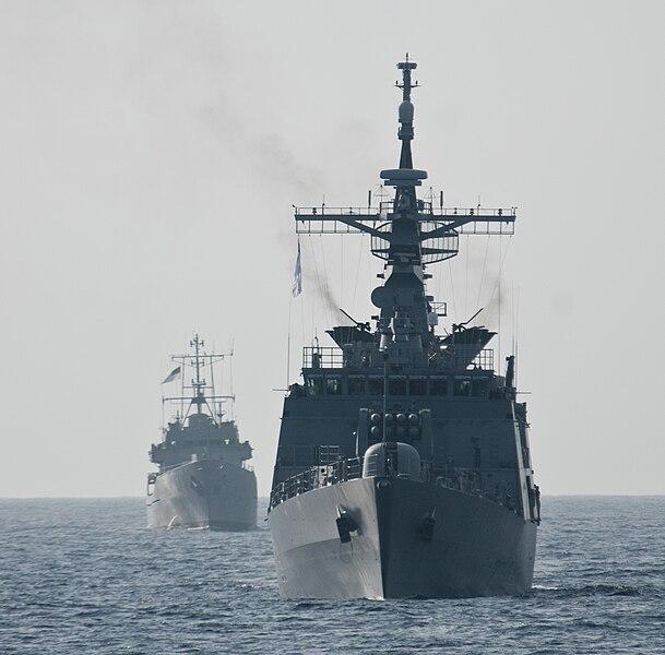 File:Bangladesh Navy Ships Bangabandhu (F-25), right, and Sangu (P-713).jpg