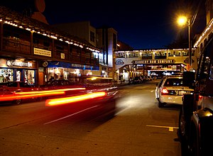 Cannery Row at Night. Dusk over the city of Mo...