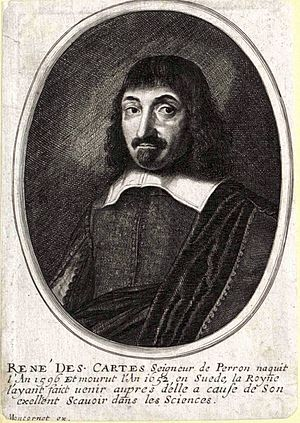 English: René Descartes, the French philosophe...