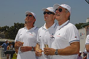 BMW ORACLE Racing team owner Larry Ellison, he...