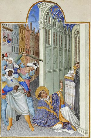 The martyrdom of Saint Mark. Très Riches Heure...