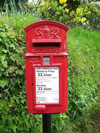 English: George VI Postbox, Scorriton Letters ...