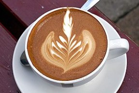 Description: Coffee cortado (An latte art exam...