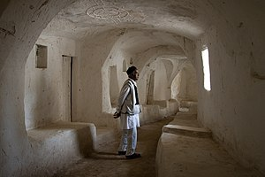 The ancient desert town of Ghadames, Libya, is...