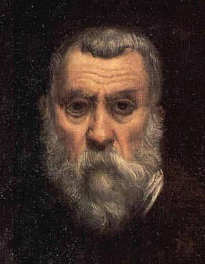 A self portrait by Tintoretto [detail].