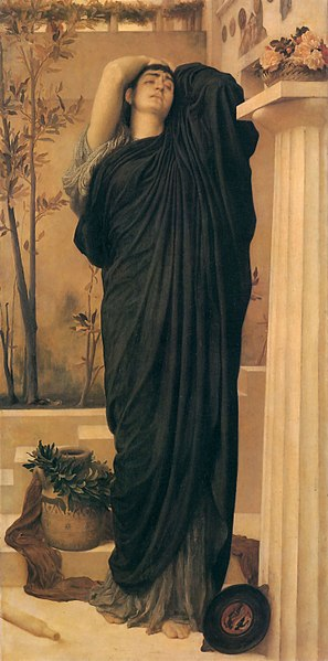 Ficheiro:1869 Frederic Leighton - Electra at the Tomb of Agamemnon.jpg