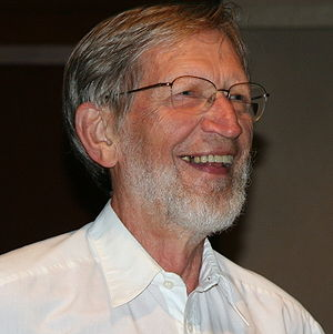 Alvin Plantinga after telling a joke ...
