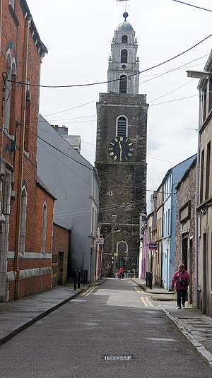 The Chapel Street in Cork with The Church of S...