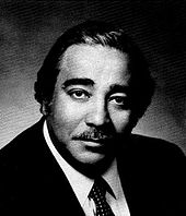 Black-and-white photograph of Representative Rangel at an earlier age