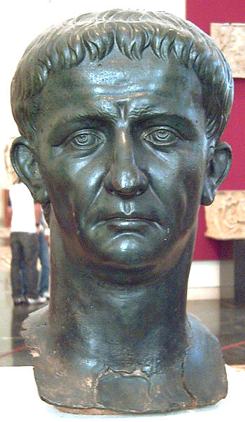 Imperial portrait of Roman emperor (41–54 AD) ...