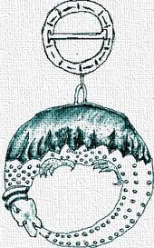 Desen înfăţişând Simbolul Ordinului Dragonului