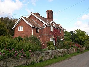 English: Estate cottages, Mansel Lacy Built by...