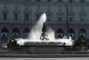 English: Fountain of the Naiads, Piazza della ...