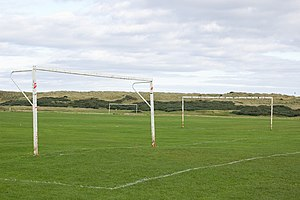 English: Goals Football pitches at Aulton