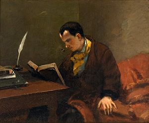 Charles Baudelaire, by Gustave Courbet