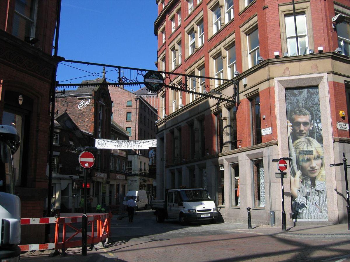 Mathew Street Liverpool  Wikimedia Commons