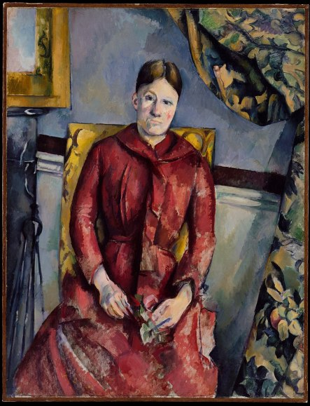 """""""Madame Cézanne in a Red Dress"""" byPaul Cézanne"""
