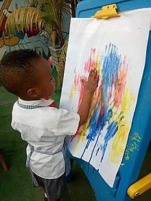 Finger Painting Berasal Dari Bahasa : finger, painting, berasal, bahasa, Montessori, Education, Wikipedia