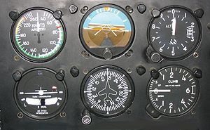 six flight instruments; basic-T, basic flight ...
