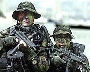 SEALs carrying MP5 submachine guns